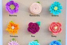variasi felt flower