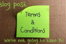 Blog Post : Writer Terms and Conditions and Meltdowns? We're Not Going to take it! / Blog Post by Kazza and Cindi