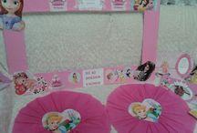 Prenses doğum günü  parti - Princess bırthday party / Küçük bir prensesin doğum günü kutlama partisi için Haniel davet ve organizasyon neler hazırladı-süsler,panolar,kurabiyeler,mini cupcake,pasta,hediyelikler