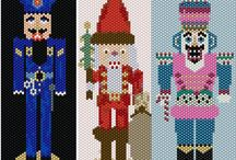 2016 Nutcracker Series. / Every year (almost every year) I try to create nutcrackers in beaded format. I hope you like the latest additions.