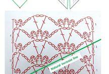 chal triangular a crochet
