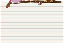 fogli di carta x appunti illustrati