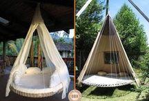aus altem Trampolin eine liege bauen