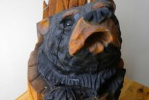 Wooden Bear carvings