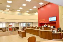 The Savings Bank / Solidus Project - The objective of this project was to create an efficient and functional branch by utilizing the existing lobby space. We built new branch concepts into the design, including community room space, educational stations, and various supporting technologies.