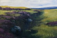 Michelle Milburn Landscape Paintings / I am lucky enough to live in a wild and dramatic part or Northumberland which provides endless opportunies for an engaged artist.  Nothumberland has huge skies and massive vistas that set my heart thumping. www.michellemilburn.co.uk