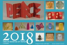 Twelve Months of Paper calendar / The second annual Twelve Months of Paper calendar features a simple and fun paper project each month. #12monthsofpaper