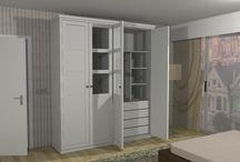 Diseños de Armarios / Proponemos distintos diseños en 3D de armarios batientes.