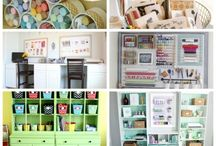 Craft Studio Ideas / Ideas for decorating, storage, furniture and display in your craft studio/room or creative space