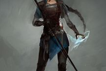 Fantasy warrior figures
