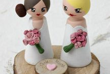 Artwen Wedding and Events / Handmade cake toppers by Artwen