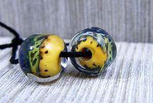 Shimmer Beads Design / Handmade Lampwork Beads