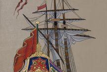 Kalyon deniz / Deniz gemiler