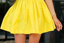 Yellow skirt outfit - look saia amarela