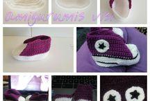 Zapatitos bebe  a ganchillo / crochet