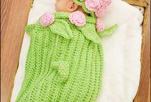 Crochet baby coocoon