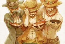 Luffy, Sabo and Ace