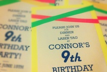 Neon Birthday / Ideas for Salem's 9th / by Leah Vinson