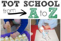 Tot School / Toddler preschool ideas