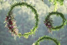 wreaths and greenery
