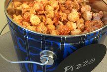 Popcorn tins / Gourmet popcorn tins