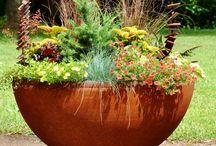 large metal planter pot