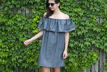 denim dresses - LIVE
