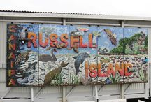 Mosaics by RiCMG (that's us) / Russell Island Community Mosaic Group (RiCMG) completed mosaic projects.