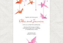 mariage grues origami