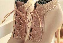 Pink/beige heels