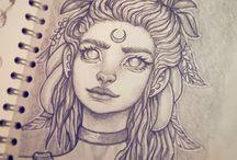 Face sketch fantasy