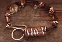Jewelry - Leather & Raw Silk