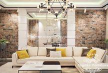 Дизайн интерьера квартиры в стиле лофт в ЖК Эмиральд / В ЖК «Эмиральд» можно спроектирован интересный дизайн интерьера в стиле лофт.  Благодаря правильно расставленной мебельной композиции в помещении много света. Мягкие кремовые тона декора создают домашний уют.  В доме есть просторная гостиная, объединённая кухня со столовой, спальня и уединённое место для работы.