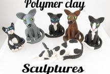 My sculptures / On  this board I share my sculptures. These are all made with polymer clay. You can find all my sculptures at www.helenkawhitedesign.co.uk