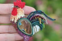 Beaded projects.