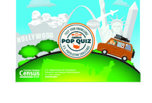 Census PoP Quiz Road Trip / Join us on our Census Pop Quiz virtual road trip across the United States and earn badges along the way. Check back as we update the map with postcards from the places we visit and don't forget to download Census Pop Quiz today: www.census.gov/mobile / by U.S. Census Bureau