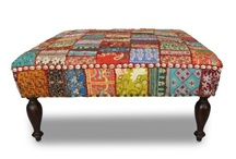 I have a crazy obsession with footstools/ottomans!  / by Evelyn Fields