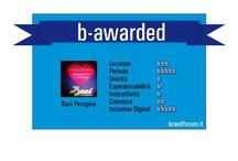 """b-awarded by brandforum.it / """"Pagell"""" di valutazione di pubblicità, iniziative, eventi a cura della redazione di brandforum.it"""