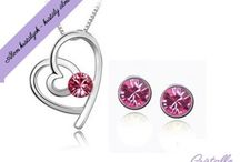 Rózsaszín kristályok / A Cristallo ékszer rózsaszínben kapható termékeiről. Folyamatosan bővül!