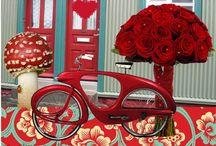 Red & Aqua Guest Bedroom & Bath