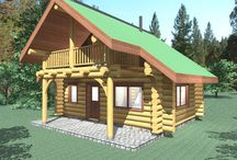 Romeo - 500 Sq. Ft. (46.4 sq m) / R.C.M. CAD DESIGN DRAFTING LTD is an architectural design firm primarily specializing in log and timber construction projects. We feature over 150 of our most creative designs categorized by living space total square footage.  North America - Europe - Asia