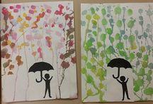 School Art / Water colour silhouette