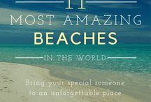 Beach Budget Travel / Inspiration for experiencing beach destinations on a budget. Beach travel tips, vacation ideas, quotes, hacks, inspiring photography and wedding ideas. Great budget-saving travel ideas from Jenn and Andie at AirportParkingHelper.com!