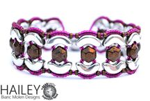 Hailey - bracelet with honeycomb jewel  arcos par puca and seed beads