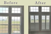 """Shutters / Plantation shutters are """"furniture for your windows!"""" Shutters can be made of wood or composite material. These are great window treatments and will last for years. https://plus.google.com/+BellagioWindowFashionsToledo/posts / by Window Treatments"""