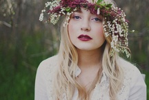 Photography - Styled Big Flowers + Woods / mostly floral headpieces, inspiration for a styled shoot