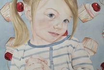 Watercolor Painting Art / Watercolor painting. Children. Patterns. Wallpaper. Girls. Art.  https://m.facebook.com/kayebishopstudios