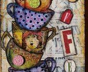 çay kahve dekupajlari