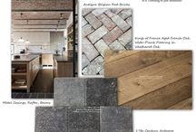 Design Board: The Belgian Farmhouse Modern Aesthetic / Is it Trending or just Beautiful? The Belgian Farmhouse Modern Aesthetic brings reclaimed materials together with metal casings, beams and large light-filled windows. Begin with Historic Decorative Materials Antique Belgian red brick tiles that can be a focal wall or ceiling.  Install HDM's 17th century Antwerp Aged Belgian bluestone pavers for a cobblestone floor exuding authenticity and finally HDM's King's of France Aged French Oak Wide-Plank Floors in Weathered Oak.