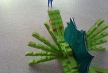 Tête d'épingle / Réalisé avec des épingles a linge par des enfants de 10ans